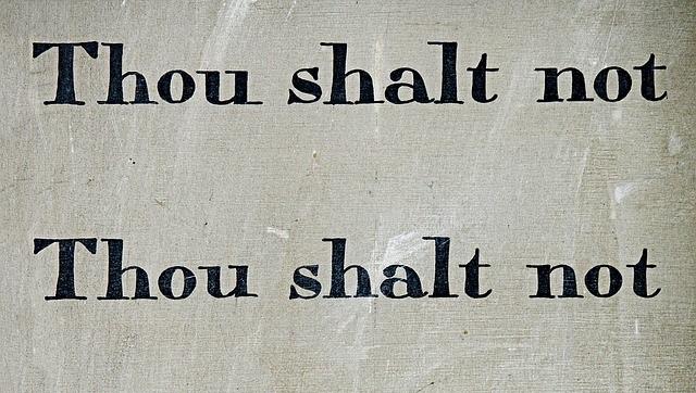 The 10 Commandments of Entrepreneurship